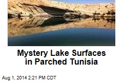 Mystery Lake Surfaces in Parched Tunisia