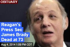Reagan's Press Sec James Brady Dead at 73