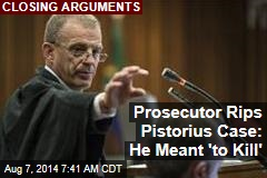Prosecutor Rips Pistorius Case: He Meant 'to Kill'