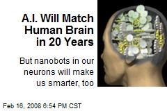 A.I. Will Match Human Brain in 20 Years