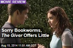 Sorry Bookworms, The Giver Offers Little