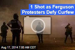 1 Shot as Ferguson Protesters Defy Curfew