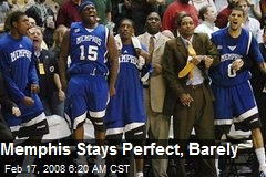Memphis Stays Perfect, Barely