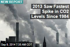 2013 Saw Fastest Spike in CO2 Levels Since 1984