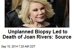 Unplanned Biopsy Led to Death of Joan Rivers: Source