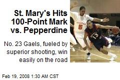 St. Mary's Hits 100-Point Mark vs. Pepperdine