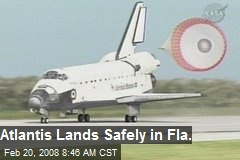 Atlantis Lands Safely in Fla.