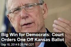 Big Win for Democrats: Court Orders One Off Kansas Ballot