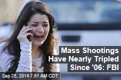 Mass Shootings Have Skyrocketed Since '06: FBI