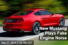 New Mustang Plays Fake Engine Noise