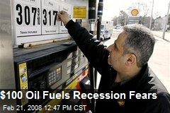 $100 Oil Fuels Recession Fears