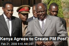 Kenya Agrees to Create PM Post