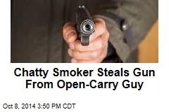 Open-Carry Guy Has Gun Stolen at Gunpoint