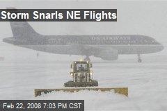 Storm Snarls NE Flights
