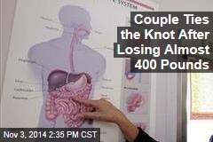 Couple Ties the Knot After Losing Almost 400 Pounds