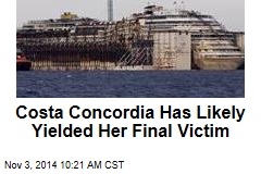 Costa Concordia Has Likely Yielded Her Final Victim