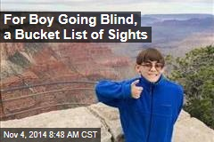 For Boy Going Blind, a Bucket List of Sights