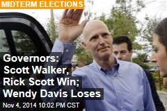 Governors' Races: Crist, Scott Each Predict Victory
