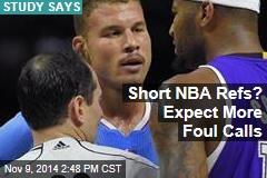 Short NBA Refs? Expect More Foul Calls