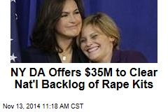 NY DA Offers $35M to Clear Nat'l Backlog of Rape Kits