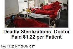 Deadly Sterilizations: Doctor Paid $1.22 per Patient