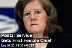 Postal Service Gets First Female Chief