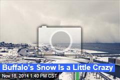 Buffalo's Snow Is a Little Crazy