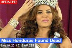 Miss Honduras Found Dead