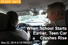 When School Starts Earlier, Teen Car Crashes Rise