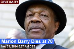 Marion Barry Dies at 78