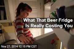 What That Beer Fridge Is Really Costing You