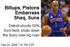 Billups, Pistons Embarrass Shaq, Suns