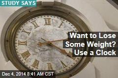 Want to Lose Some Weight? Use a Clock