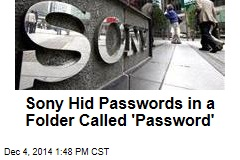 Sony Hid Passwords in a Folder Called 'Password'