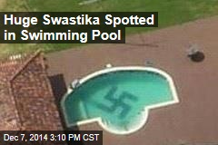 Huge Swastika Spotted in Swimming Pool