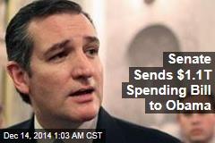 Senate Sends $1.1T Spending Bill to Obama