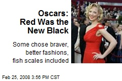 Oscars: Red Was the New Black