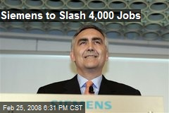 Siemens to Slash 4,000 Jobs