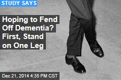 Able to Stand on One Leg? Your Stroke Risk Is Lower