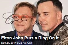 Elton John Puts a Ring On It