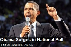 Obama Surges in National Poll