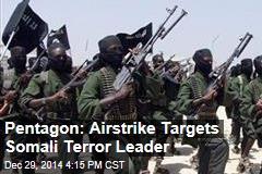 Pentagon: Airstrike Targets Somali Terror Leader