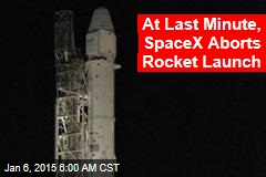 At Last Minute, SpaceX Aborts Rocket Launch