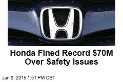 Honda Fined Record $70M Over Safety Issues