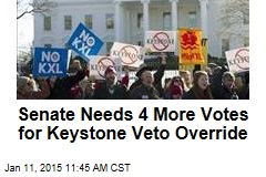Senate Needs 4 More Votes for Keystone Veto Override