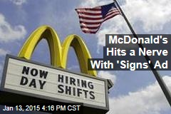 McDonald's Hits a Nerve With 'Signs' Ad