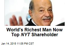 World's Richest Man Now Top NYT Shareholder