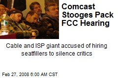 Comcast Stooges Pack FCC Hearing