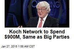 Koch Bros. Plan Mammoth $889M Spend in 2016