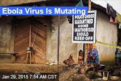 Ebola Virus Is Mutating